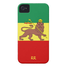 Rastafari Flag Of Ethiopia Reggae Iphone 4 Case at Zazzle