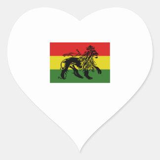 Rastafari Flag Heart Sticker