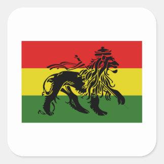 Rastafari Flag Square Sticker