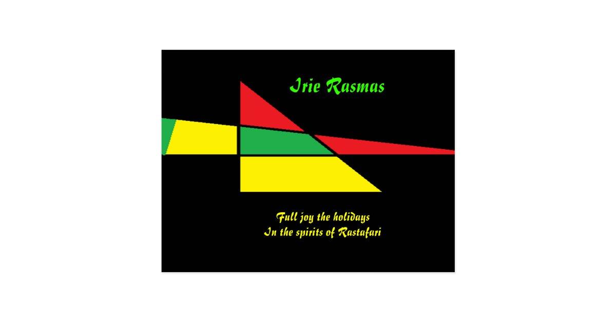 Rastafari greeting cards irie rasmas postcard zazzle m4hsunfo