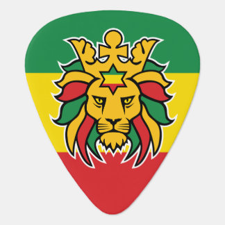 Rastafari Lion of Judah Guitar Pick