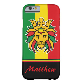 Rastafari Lion of Judah Personalized Name Barely There iPhone 6 Case