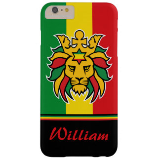 Rastafari Lion of Judah Personalized Name Barely There iPhone 6 Plus Case