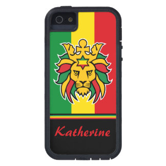 Rastafari Lion of Judah Personalized Name iPhone SE/5/5s Case