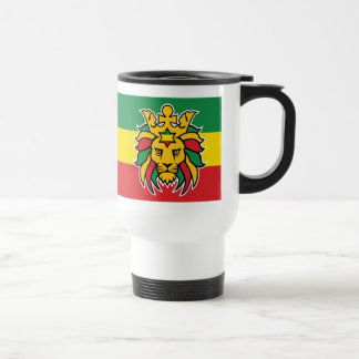 Rastafari Lion of Judah Travel Mug