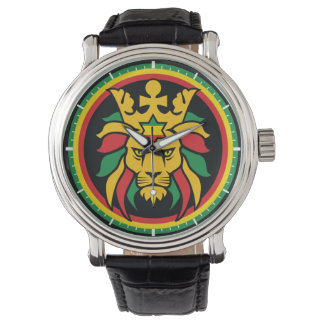 Rastafari Lion of Judah Wrist Watch