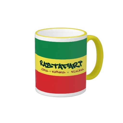 Rastafari Lives Reigns Rules Mug