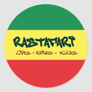 Rastafari lives reigns rules sticker