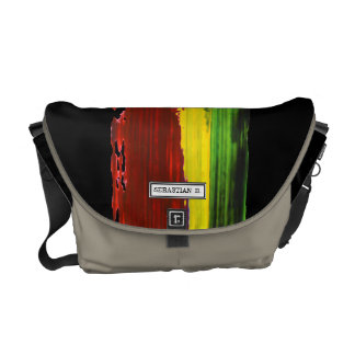 Rastafari Paint Stripe Custom Name Courier Bag