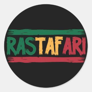 Rastafari Pegatina Redonda