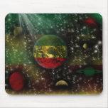 Rastafari Planets World Space Mousepad