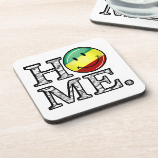 Rastafari Pride Smiling Flag Housewarming Beverage Coaster