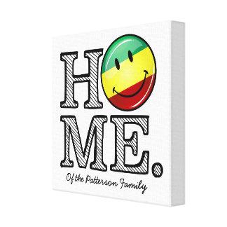 Rastafari Pride Smiling Flag Housewarming Canvas Print