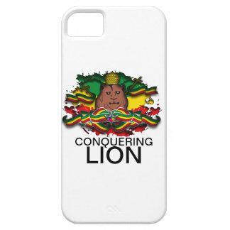Rastafari que conquista el caso del iphone 5 del l iPhone 5 Case-Mate protector