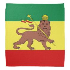 Rastafari Reggae Music Flag Bandana at Zazzle