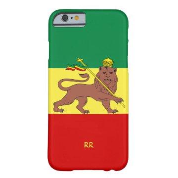 Rastafari Reggae Music Flag iPhone 6 case at Zazzle