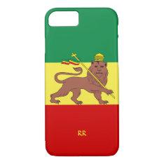 Rastafari Reggae Music Flag Iphone 8/7 Case at Zazzle