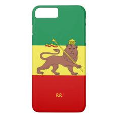 Rastafari Reggae Music Flag Iphone 8 Plus/7 Plus Case at Zazzle