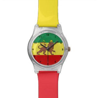Rastafari Reggae Music Flag Watch at Zazzle