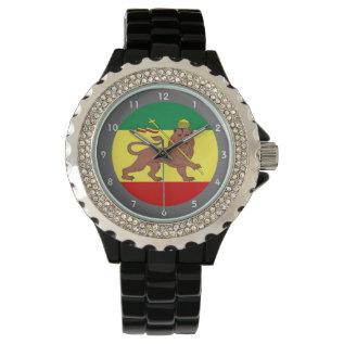 Rastafari Reggae Music Flag Wristwatch at Zazzle
