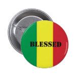 Rastafari-Segen Pin Redondo 5 Cm