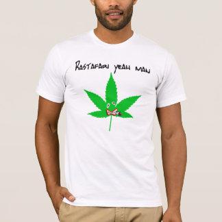 rastafari yeah man white T-Shirt