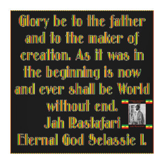 Rastafarian Ceremonial Prayer Wrapped Canvas Stretched Canvas Prints