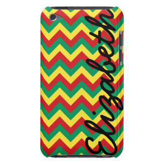 Rastafarian Chevron Barely There iPod Cases