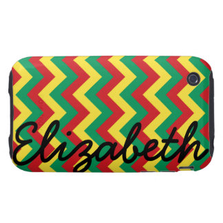 Rastafarian Chevron iPhone 3 Tough Cover
