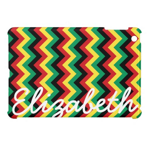 Rastafarian Chevron iPad Mini Covers