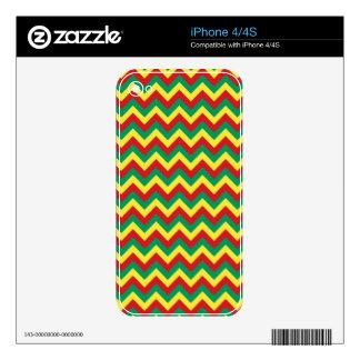 Rastafarian Chevron iPhone 4S Calcomanía