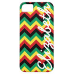 Rastafarian Chevron iPhone 5 Cárcasa