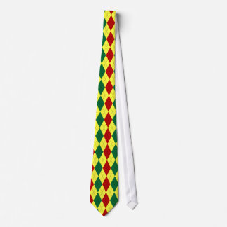 Rastafarian Colors Argyle Patterned Tie