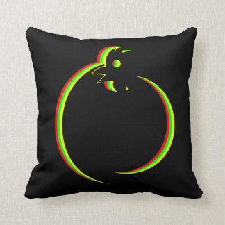 Rastafarian colours Rainbow rooster pillow