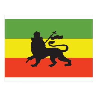 Rastafarian Flag Postcard