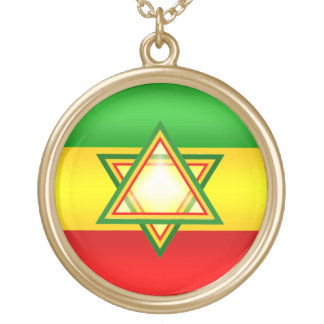 Rastafarian Gold Plated Necklace