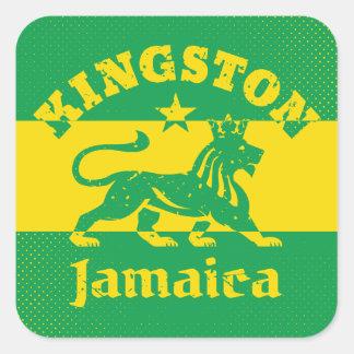 Rastafarian Kingston Jamaica Square Sticker