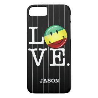 Rastafarian Love Happy Rasta Flag iPhone 7 Case