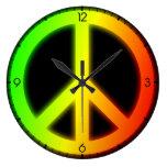 Rastafarian Peace Sign Wall Clocks