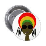rastafarian pinback button