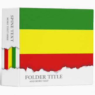 Rastafarian Pride Flag Binder