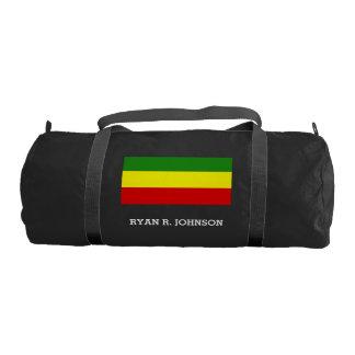 Rastafarian Pride Flag Gym Duffle Bag