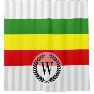 Rastafarian Pride Flag Shower Curtain