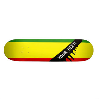 Rastafarian Pride Flag Skateboard