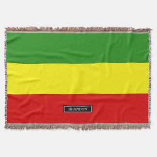 Rastafarian Pride Flag Throw