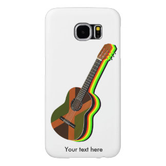 Rastafarian Reggae Guitar Jamaican Flag Samsung Galaxy S6 Case