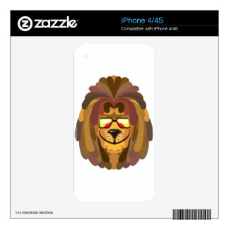 RastaLion vector Skin For The iPhone 4S