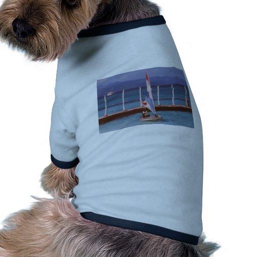 Rastaman en un velero, Montego Bay Jamaica Camiseta De Mascota