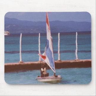 Rastaman in a Sailboat, Montego Bay Jamaica Mouse Pad