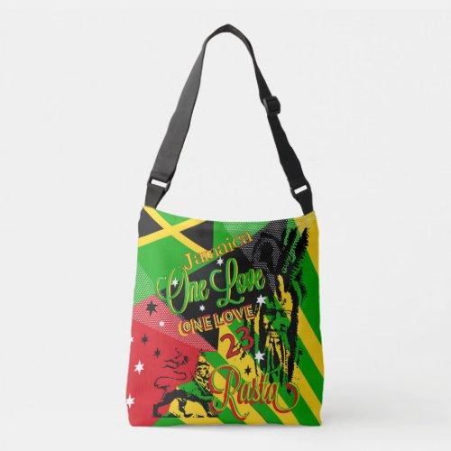 Rastaman One Love Reggae cross body bags
